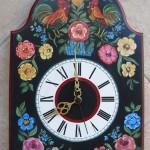 Pendule décor floral naîf